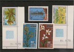 NOUVELLE CALÉDONIE Flore  Années 1977-1979  N°Y/T : 409/410-418-431/432** - Neukaledonien