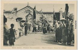 Sino Indochinese Border Fete Du Dragon Chinese New Year Edit Taupin Hanoi No 4004 French Photographer Camera - China