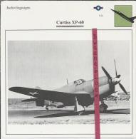 Vliegtuigen.- Curtiss XP-60 - Jachtvliegtuigen. -  V.S. - U.S.A. - Vliegtuigen