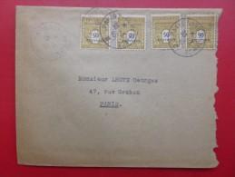 LETTRE FRANCE TIMBRE 623 CACHET PARIS NORD PROVINCE C 30 03 1945 - Etats-Unis