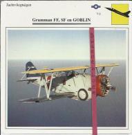 Vliegtuigen.- Grumman FF, SF En Goblin - Jachtvliegtuigen. -  V.S. - U.S.A. - Vliegtuigen