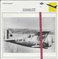 Vliegtuigen.- Grumman F3F - Jachtvliegtuigen. -  V.S. - U.S.A. - Vliegtuigen