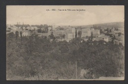 DF / MAROC / FEZ (FÈS) / VUE LE VILLE AVEC LES JARDINS / CIRCULÉE EN 1912 - Fez (Fès)