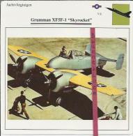Vliegtuigen.- Grumman XF5F-1 - Skyrocket - Jachtvliegtuigen. -  V.S. - U.S.A. - Vliegtuigen
