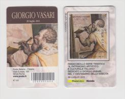 2011 - ITALIA -  TESSERA FILATELICA  GIORGIO VASARI NEL V° CENTENARIO DELLA NASCITA - 1946-.. République