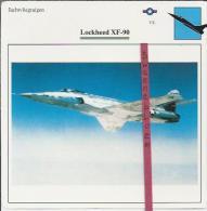 Vliegtuigen.- Lockheed XF-90 - Jachtvliegtuigen. -  V.S. - U.S.A. - Vliegtuigen