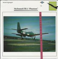 Vliegtuigen.- McDonnell FH-1 - Phantom - Jachtvliegtuigen. -  V.S. - U.S.A. - Vliegtuigen