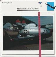 Vliegtuigen.- McDonnell XF-85 - Goblin - Jachtvliegtuigen. -  V.S. - U.S.A. - Vliegtuigen