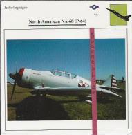 Vliegtuigen.- North American NA-68 (P-64) - Jachtvliegtuigen. -  V.S. - U.S.A. - Vliegtuigen