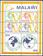 """MALAWI Block 36(216C-9C) """"100 Jahre Weltpostverein UPU"""" MNH / ** / Postfrisch - Malawi (1964-...)"""