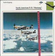 Vliegtuigen.- North American P-51 - Mustang - Jachtvliegtuigen. -  V.S. - U.S.A. - Vliegtuigen