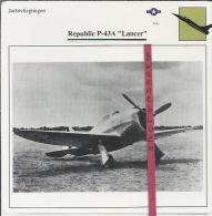 Vliegtuigen.- Republic P-43A - Lancer - Jachtvliegtuigen. -  V.S. - U.S.A. - Vliegtuigen