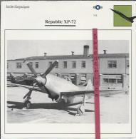 Vliegtuigen.- Republic XP-72 - Jachtvliegtuigen. -  V.S. - U.S.A. - Vliegtuigen