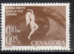Montenegro,Battle Against Violence Against Women 2001.,MNH - Montenegro