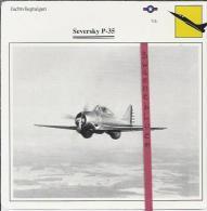 Vliegtuigen.- Seversky P-35 - Jachtvliegtuigen. -  V.S. - U.S.A. - Vliegtuigen