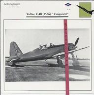 Vliegtuigen.- Vultee V-48 (P-66) - Vanguard - Jachtvliegtuigen. -  V.S. - U.S.A. - Vliegtuigen