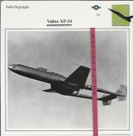 Vliegtuigen.- Vultee XP-54 - Jachtvliegtuigen. -  V.S. - U.S.A. - Vliegtuigen