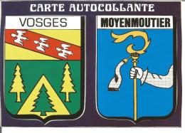 Blason Armoiries  Lorraine  Vosges Moyenmoutier Héraldique Ecusson Adhésif - Stickers