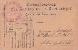 """CPFM  LANEUVILLE ST JOIRE MEUSE  - Franchise """""""" VERDUN GARDE DES VOIES DE COMMUNICATION SECTION F GROUPE 2 - WW I"""