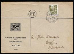 A3688) Schweiz Drucksache-Brief 1946 Mit EF Mi.297 Und Sonderstempel - Schweiz