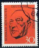 BRD - Michel 567 - OO Gestempelt (C) - 1. Todestag Von Konrad Adenauer - [7] République Fédérale