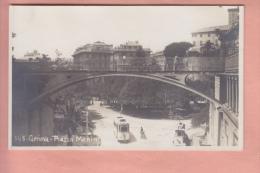 OLD POSTCARD   ITALY ITALIA  GENOVA TRAM  PIAZZA MANIN - Genova (Genoa)
