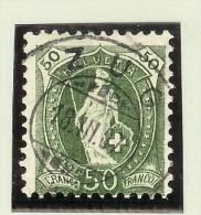 Heimat ZG Zug 1907-03-18 Voll-O Stehende Zu# 90A - 1882-1906 Armoiries, Helvetia Debout & UPU