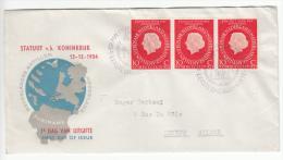 NEDERLAND 1954  FDC MICHEL 654 NL CATALOGUS E20 STATUUT - FDC