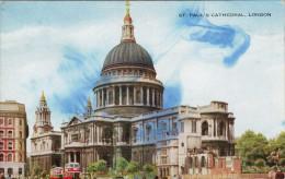 """LONDRA ST. PAUL'S CATHEDRAL  (INDIRIZZATA E APPARTENUTA AL """"COMM GILBERTO GOVI) 2 SCAN  (VIAGGIATA) - St. Paul's Cathedral"""