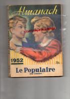 87 - LIMOGES - ALMANACH 1952- LE POPULAIRE DU CENTRE - VETEMENTS ARYA -PLACE DE LA MOTTE- - Old Paper