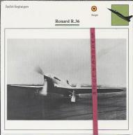 Vliegtuigen.- Renard R.36 - Jachtvliegtuigen. -  België - Vliegtuigen