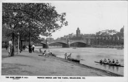 """MELBOURNE PRINCES BRIDGE AND THE YARRA    (INDIRIZZATA E APPARTENUTA AL """"COMM GILBERTO GOVI) 2 SCAN  (VIAGGIATA) - Melbourne"""