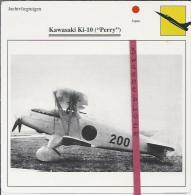 Vliegtuigen.- Kawasaki Ki-10 - Perry - Jachtvliegtuigen. -  Japan - Vliegtuigen