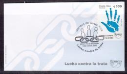 COSTA RICA 2015  FDC. FIGHT AGAINST TRAFFICKING IN WOMEN - Costa Rica