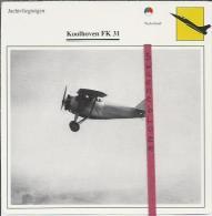 Vliegtuigen.- Koolhoven FK 31 - Jachtvliegtuigen. -  Nederland - Vliegtuigen