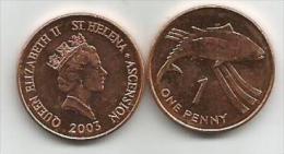 Saint Helena And Ascension 1 Penny 2003. UNC/AUNC - Sainte-Hélène