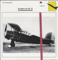 Vliegtuigen.- Koolhoven FK 52 - Jachtvliegtuigen. -  Nederland - Vliegtuigen