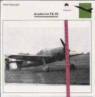 Vliegtuigen.- Koolhoven FK 58 - Jachtvliegtuigen. -  Nederland - Vliegtuigen