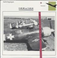 Vliegtuigen.- IAR.80 En IAR.81 - Jachtvliegtuigen. -  Roemenië - Vliegtuigen