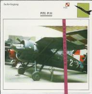 Vliegtuigen.- PZL P-11- Jachtvliegtuigen. -  Polen - Vliegtuigen