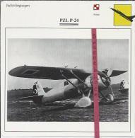 Vliegtuigen.- PZL P-24- Jachtvliegtuigen. -  Polen - Vliegtuigen