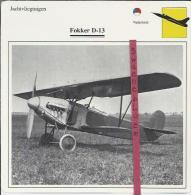 Vliegtuigen.- Fokker D-13- Jachtvliegtuigen. -  Nederland - Vliegtuigen