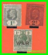 GRAN BRETAÑA BRITISH -HONDURAS  SELLOS DIFERENTES VALORES  AÑOS 1902-18 - British Honduras (...-1970)