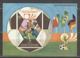 GUINEE EQUATORIAL Imperforated Block Mint Without Hinge - Coppa Del Mondo