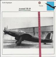 Vliegtuigen.- Arsenal VB-10- Jachtvliegtuigen. -  Frankrijk - Vliegtuigen