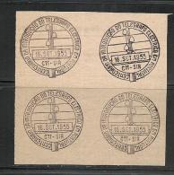TELEGRAPH - TELÉGRAFO - 1955 CANCELLATION PROOF On Piece - Gebraucht