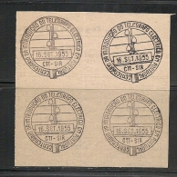 TELEGRAPH - TELÉGRAFO - 1955 CANCELLATION PROOF On Piece - Telegraph
