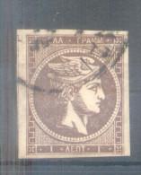 TETE DE MERCURE AÑO 1861 YVERT NR. 1 OBLITERE - 1861-86 Large Hermes Heads