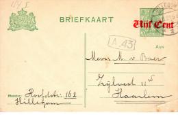 Bk G 114 I  Hillegom - Haarlem - Entiers Postaux