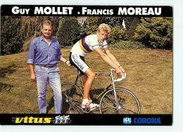 Francis MOREAU, Guy MOLLET, Champion Du Monde. 2 Scans. Cyclisme. Vitus Corona - Cyclisme